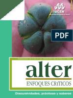 Revista Alter,enfoques críticos. Número 8 Discursividades prácticas y saberes