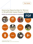 Improving Opportunities for Women in Smallholder-based Supply Chains