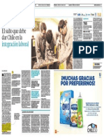 Salto de Chile en La Integracion Laboral