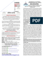 Boletim - 16 de Agosto de 2015