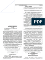 Dleg N° 1186 - REGULA EL  USO DE LA FUERZA POR PARTE DE LA  POLICIA NACIONAL DEL PERU