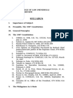 Syllabus-Political Law Review (July 15, 2015)