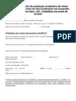 Ficha de Avaliação Bolsista