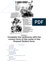 Song in Present Perfect and Exercises