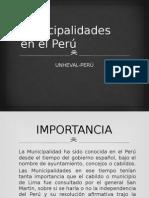 Las Municipalidades en El Perú- Normativa