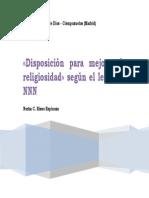 Disposición para mejorar la religiosidad según NNN