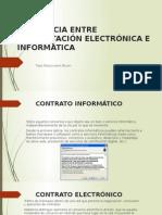 Diferencia Entre Contratación Electrónica e Informática