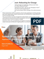 California Technology Forum 2015 presentation -  System Reset