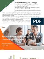 California Technology Forum 2015 presentation -  System Reset