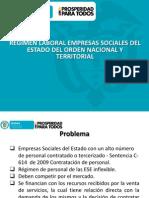 Regimen Laboral Empresas Sociales Del Estado Del Orden Nacional y Territorial
