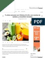 Tu Dieta Semanal Con Vitónica (CLXII)_ Con Recetas de Batidos y Smoothies Incluidas