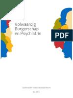 Document Volwaardig Burgerschap en Psychiatrie