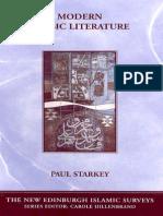 Paul Starkey Modern Arabic Literature New Edinburgh Islamic Surveys S. 2006