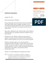 Letter to RCMP Commissioner Paulson