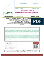 PREPARATION OF HIGHLY POROUS GASTRORETENTIVE QUETIAPINE FUMARATE TABLETS BY USING A SUBLIMATION METHOD M.Naga Ganesh*, Jamjala Naveen, T.Mangilal,M.Ravi Kumar