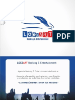1. Presentacion Final LOEZART Booking . Entertainment