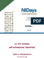 L'evoluzione della tecnologia wireless nell'ambito delle applicazioni industriali - Automazione Oggi, Fieldbus&Networks