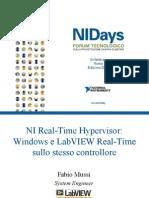 Introduzione alla tecnologia NI Real-Time Hypervisor