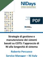 Strategie di gestione e manutenzione dei sistemi basati su COTS