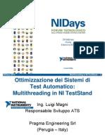 Ottimizzazione dei Sistemi di test automatico sfruttando il multithreading in NI TestStand - Pragma