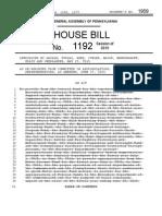 HB 1192, PN 1959 - PA State Budget