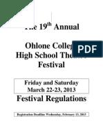 19th Annual Ohlone Theatre Festival