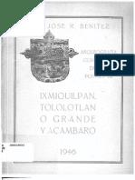Arqueografia Comparada de Los Puentes de Ixmiquilpan, Totolotlán o Grande y Acámbaro