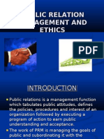 Public Relation Management and Ethics