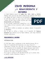 Renacimiento y Reforma Resumen