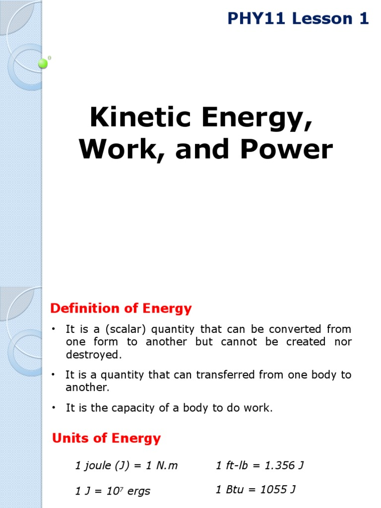 phy11 lesson 1 kinetic energy, work, and power 2q1415 | power
