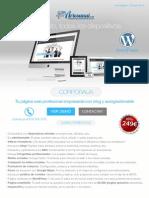 Tu Pagina Web Profesional Empresarial Con Blog y Autogestionable