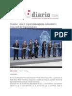 17-08-2015 Reto Diario.com - Moreno Valle y Esparza Inauguran Laboratorio Nacional de Supercómputo