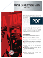 NFPA 70E Sales Sheet