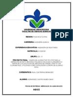 diseño de reactor flujo piston (PFR)