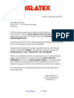 Carta San Antonio de Pago
