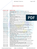 48798955 Ieee Project Titles List 2011