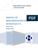 Manual Implementacion Estrategia de Las 5s