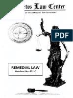 Baste - Remedial Law Handout 1C
