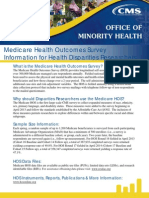 Medicare HOS Disparities Data Fact Sheet 2015