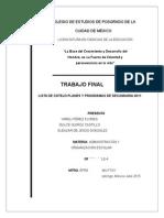 Lista de Cotejo Planes y Programas