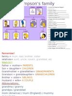 Family Vocabpossessive s