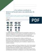El Grosor de La Corteza Cerebral Es Mayor en Los Jóvenes Con Síndrome de Down