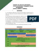 Cronograma de Juegos Internos Vespertinosde La Escuela Trajano Viteri Medrand1