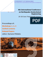 4. 25-28 June Thessaloniki Greece 4th International Conference on Earthquake Geotechnical Engineering