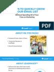 4 Step Listbuilding Worksheet
