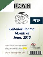 DAWN Editorials - June, 2015