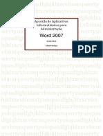 Apostila  Aplicativos Informatizados  Word 2007 .pdf