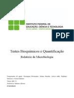 Relatório de Micro - Teste Bioquímico
