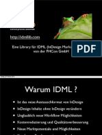 IDMLlib Ideen