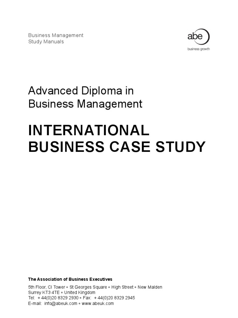 global business case studies Overview of the collections of free cases available from the case by continuing to use entrepreneurship, international business, marketing, operations information & technology legatum center case studies illuminate the thought processes of entrepreneurs.